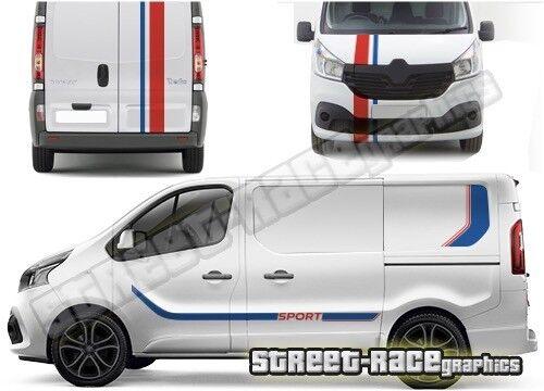 SWB or LWB Renault Trafic FULL 015 van racing stripes decals vinyl graphics