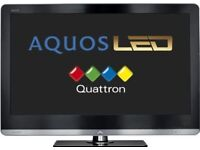 Sharp aquos 43-inch Slim line 1080p LED LCDTV with Built in Freeview HD