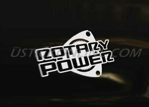 ROTARY POWER Car Decal Sticker Rotor RX8 RX-8 RX7 RX-7 Renesis 13B Wankel