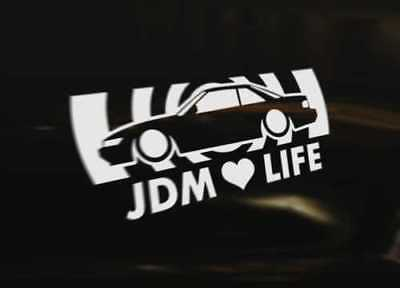SILVIA S13 180SX 200SX 240SX COUPE JDM LIFE Decal Sticker Graphic