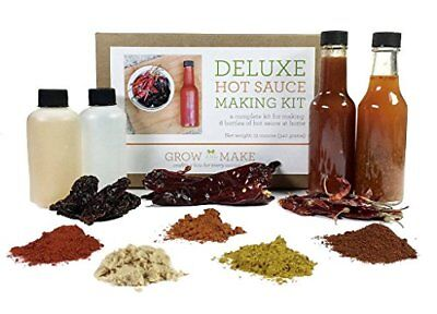 NEW Grow and Make: Deluxe DIY Gourmet Hot Sauce Kit 6 Recipes Included