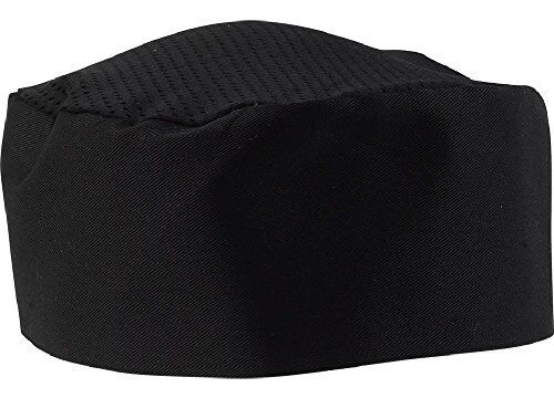 Black Chef Hat - Adjustable. One Size Fit Most.