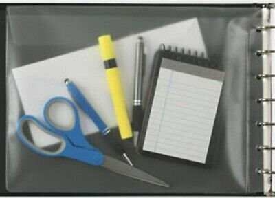 New - Vinyl Pocket For 3 On A Page 7 Ring Check Binders 13 X 9 12