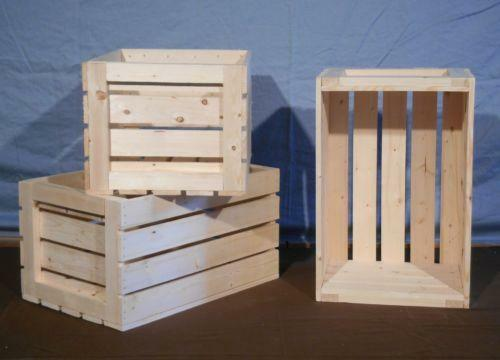Antique wooden crates ebay for Uses for old wooden crates