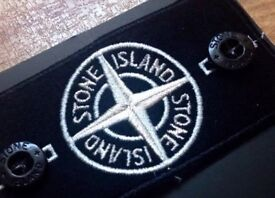 100% QUALITY RARE STONE ISLAND SPECIAL 'GLOW IN THE DARK' BLK/WHITE EDITION REPLACEMENT BADGE SET