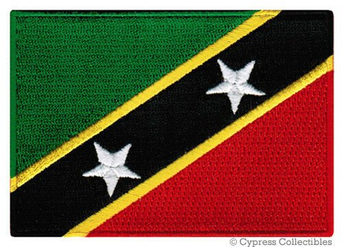 ST KITTS NEVIS FLAG embroidered iron-on PATCH CARIBBEAN EMBLEM Leeward Islands