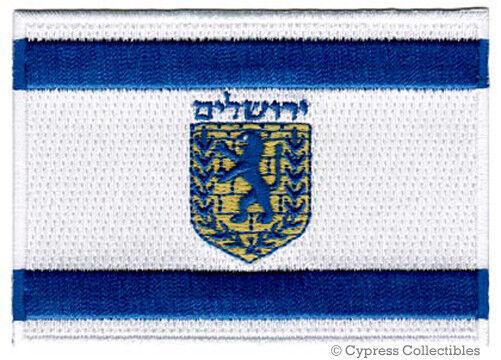 JERUSALEM FLAG embroidered iron-on PATCH ISRAEL CITY emblem ISRAELI applique NEW