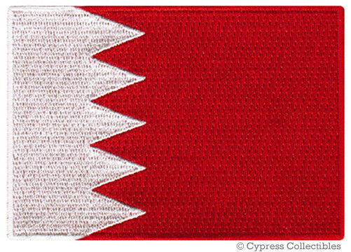 BAHRAIN FLAG embroidered iron-on PATCH ARAB MUSLIM NATIONAL EMBLEM middle east