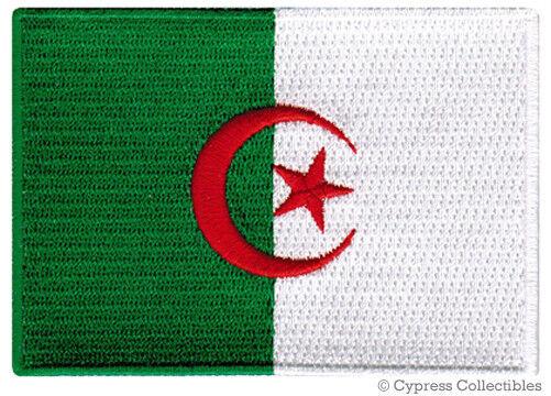 ALGERIA NATIONAL FLAG PATCH ALGERIAN Iron-on EMBROIDERED SOUVENIR APPLIQUE - $1.99