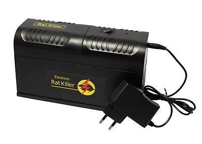 Rattenfalle elektrisch Mausefalle Falle Maus Ratte Batterie Strom Netzteil Neu