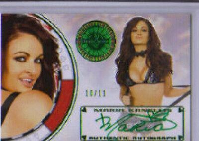 2012 Benchwarmer  Vegas Maria Kanellis Autograph Green Foil 10/11