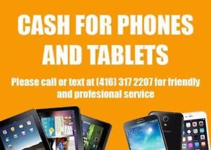 Get some CASH For Phones You No Longer Use - Samsung iPhone / Samsung Galaxy / Ipad / Tablet