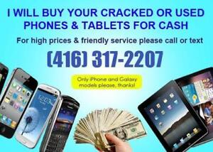 Cash Paid for Used or Broken Smartphones and Tablets / Ipad