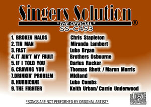 Singers Solution  #453 COUNTRY Karaoke 9-Song-HURRICANE-FAST-FREE SHIPPING!!