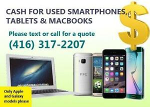 Cash Paid For Your Used IPhone iPad and Macbook