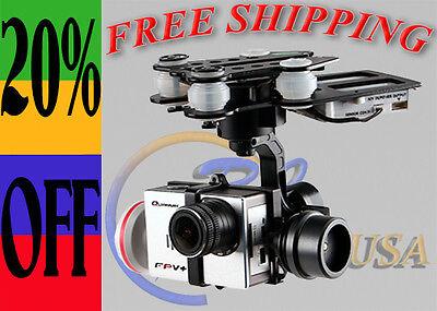 Quanum Q-3D Brushless 3-Axis Camera Gimbal for GoPro 3 Quanum FPV RCTimer USA