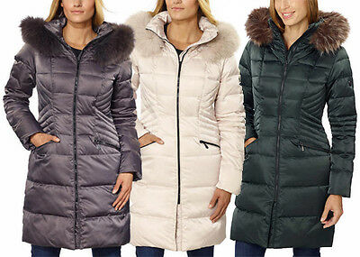 1 Madison Ladies Hooded Down Walker Jacket Green Ivory White Gray Black