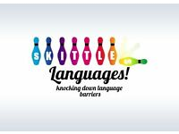 Learn German, French and English as a Foreign Language