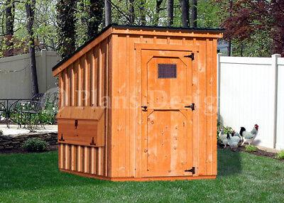 Backyard Chicken Coop Plans 6 By 6 Kennel Hen House Modern Roof 90606cm