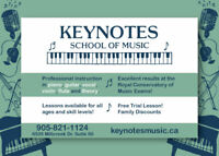Piano, Guitar, Vocal, Violin, and Theory Classes!