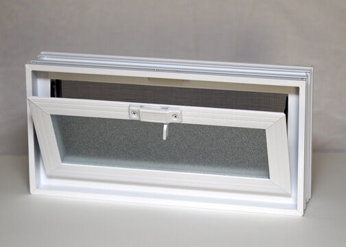 Quality Vents Fresh Air Glass Block  Hopper Ventilator