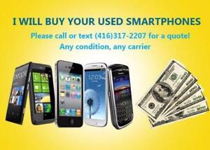 I Buy LG, Samsung Apple or HTC Smartphones - Cracked or Used