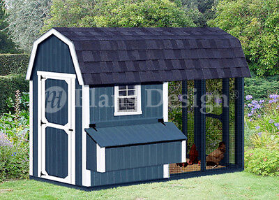 4 X 8 Combination Barn Chicken Coop Plans Material List Included 80408cb