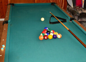 """Pool Table. 7 FT. (39"""" x 78"""")"""