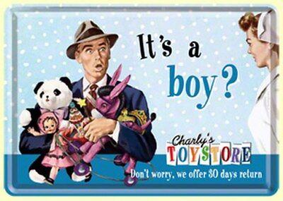 It´S A Boy ? - Charly´S Toystore - 10 X 14 cm - Neu (Schilde Store)
