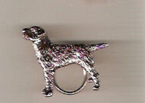 Border Terrier Nickel Silver Eyeglass Holder Scarf Pin Jewelry LAST ONE!*