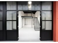 Stunning creative warehouse workspaces available in Acton immediately.