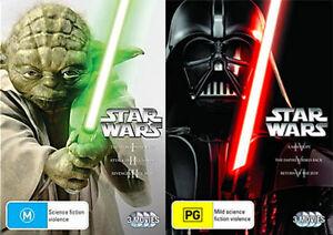 STAR WARS PREQUEL & TRILOGY 1 2 3 4 5 6 : NEW DVD