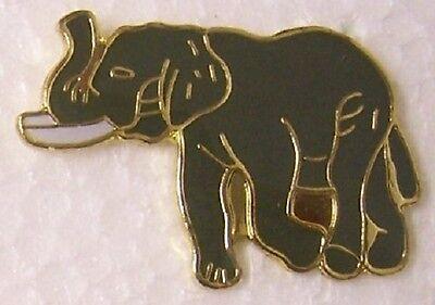Hat Lapel Pin Scarf Clasp Animal Elephant NEW
