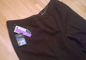 Ladies brown pinstriped pants – size 20 Petite (NEW w/tags)