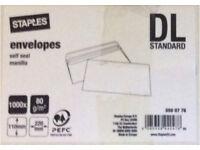 Envelopes - self seal DL standard