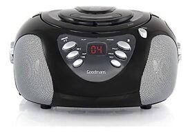 Goodmans GPS02BLK CD Radio Boombox in Black