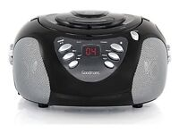Goodmans GPS02BLK CD Radio Boombox in Black