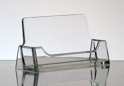 New CLEAR Acrylic Desktop Business Card Holder Display