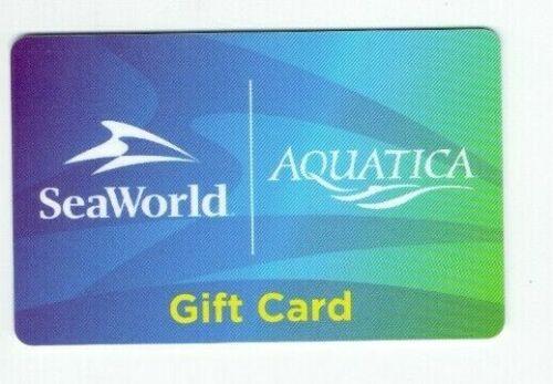 SeaWorld Gift Card - Aquatica - Florida - Sea World Parks - No Value