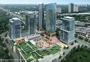 1 Bdrm condo $1,400/mth Feb 1st World on Yonge/Steeles