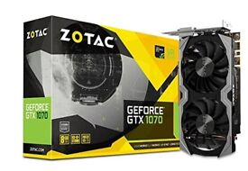 Zotac NVIDIA GeForce GTX 1070 8 GB Mini Graphics Card - Black GPU quiet and efficient