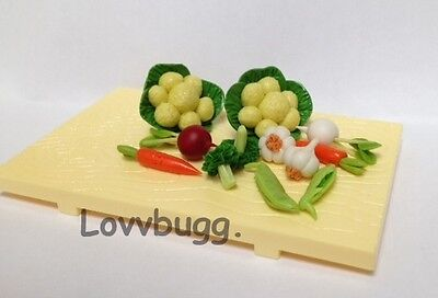 "Lovvbugg Veggies n Cutting Boad  for 18"" American Girl Doll Food Accessory"