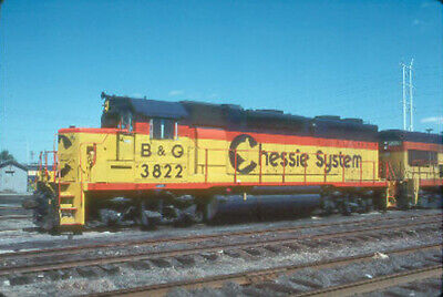 B&O 3822 GP-38 (BALTIMORE & OHIO - CHESSIE) --- Original Slide T2-10