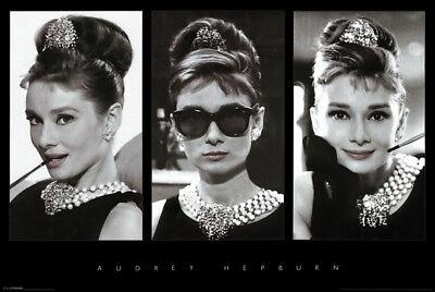 Audrey Hepburn Breakfast at Tiffanys Photo Collage 24x36 Movie Poster Print (Audrey Hepburn Breakfast)