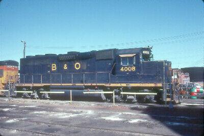B&O 4008 GP-40 (BALTIMORE & OHIO) --- Original Slide T2-10
