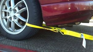 ROLLBACK-CARRIER-SPORTS-CAR-Damage-Free-TIE-DOWN-STRAPS-Easy-to-Use-SET-of-4
