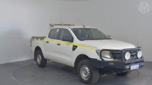 2012 Ford Ranger PX XL 2.2 (4x4) Cool White 6 Speed Manual Crew Cab Utility Perth Airport Belmont Area Preview