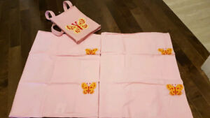 Queen Fitted Sheet/Flat Sheet/Table Mats