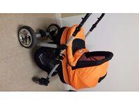 Pram, pushchair, car seat and bag