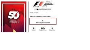 F1 Formula One Grandstand 1 Friday Practice Tickets